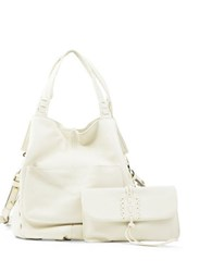 Sanctuary Laurel Canyon Leather Drawstring Tote Milk