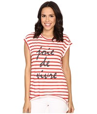 The Beginning Of Fiona High Low Tee W Joie De White Red Women's T Shirt