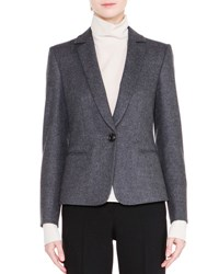 Giorgio Armani Classic One Button Jacket Gray