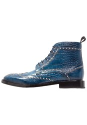 Melvin And Hamilton Matthew 7 Laceup Boots Mid Blue