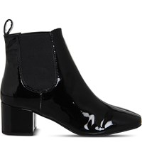Office Love Bug Chelsea Boots Black Patent Leather