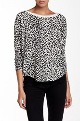 Chaser Animal Print Drape Back Thermal Beige