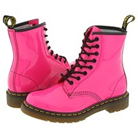 Dr. Martens 1460 W Hot Pink Patent Women's Lace Up Boots