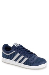 Men's Adidas 'Top Ten Lo' Leather Sneaker Oxford Blue Solid Grey White