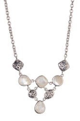 Lois Hill Sterling Silver Mother Of Pearl And Baby Bib Necklace No Color