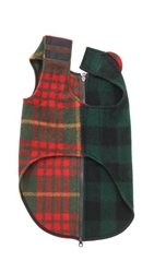 Ware Of The Dog Large Plaid Coat Red Green