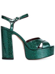 Marc Jacobs 'Debbie' Sandals Green
