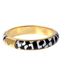 Diane Von Furstenberg Monogram Bangle Black White
