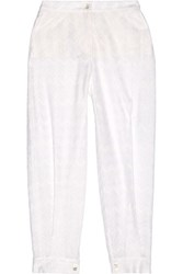 Missoni Crochet Knit Tapered Pants White