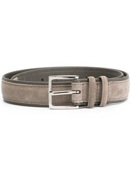 Orciani Suede Buckle Belt Grey