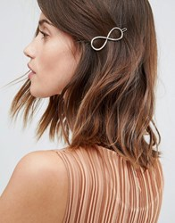 Pieces Infinity Swirl Hair Clip Gold