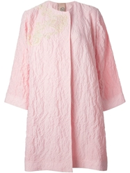 Antonio Marras Oversized Textured Coat Pink And Purple