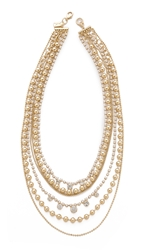 Juliet And Company Limoges Necklace Gold Multi