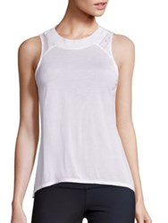 Alo Yoga Crest Lace Inset Tank Top White