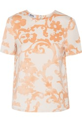 Moschino Cheap And Chic Printed Crepe Top Orange