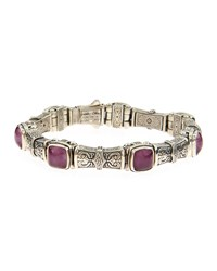 Konstantino Ornate Ruby And Quartz Doublet Link Bracelet Women's