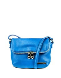 Kenneth Cole Reaction Wooster Street Leather Foldover Crossbody Bag Delft Blue