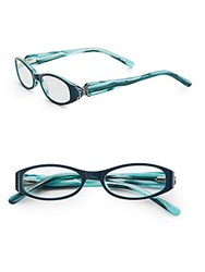 Judith Leiber 51Mm Oval Optical Glasses Sapphire