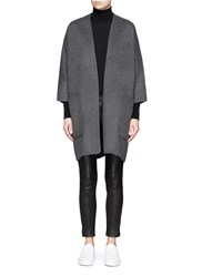 Vince Reversible Wool Cashmere Cardigan Coat Grey