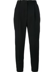 Alexander Mcqueen High Waisted Cropped Trousers Black