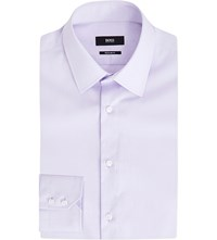 Hugo Boss Regular Fit Cotton Shirt Light Pastel Purple