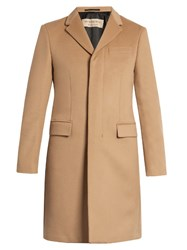 Burberry Single Breasted Wool And Cashmere Blend Coat Camel