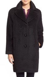 Women's Kristen Blake Wool And Alpaca Blend Notch Collar Coat Black