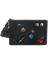 Anya Hindmarch All Over Stickers 'Georgiana' Clutch Grey
