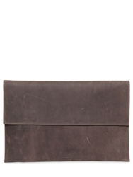 Soft Leather And Neoprene Pc Case Dark Dust