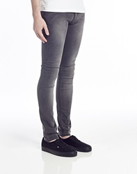 Religion Jeans In Super Skinny Fit Dark Grey