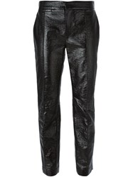 Marc By Marc Jacobs Cropped Coated Trousers Black