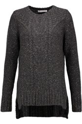 Autumn Cashmere Cable Knit Sweater Charcoal