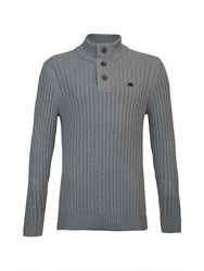 Raging Bull Big And Tall Funnel Neck Jumper Grey