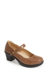Alegria By Pg Lite 'Harper' Mary Jane Pump Brown