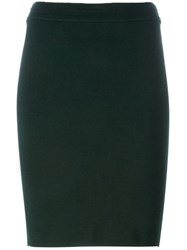 Alaa A Vintage Classic Pencil Skirt Green