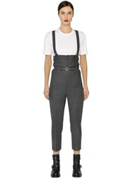 Diesel Black Gold Wool Flannel Overalls
