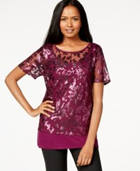 Joseph A Layered Look Sequined Top