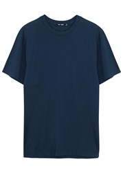 Blk Dnm Dark Blue Pima Cotton T Shirt