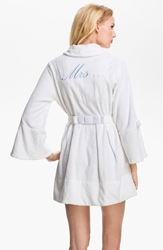 Betsey Johnson Terry Honeymoon Robe White