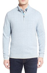 Tommy Bahama Men's 'Harbor Walk' Quarter Zip Pullover Sweater Dusty Marlin