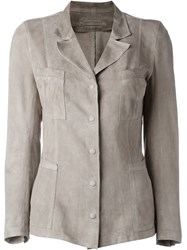Sylvie Schimmel Leather Jacket Nude And Neutrals