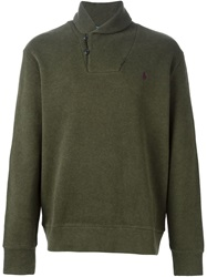 Polo Ralph Lauren Shawl Collar Sweater Green