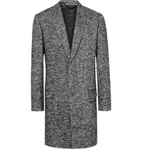 Haider Ackermann Woven Wool Blend Overcoat Black