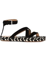 Proenza Schouler Braided Sole Sandals Black