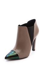 Studio Pollini Cap Toe Booties Mud