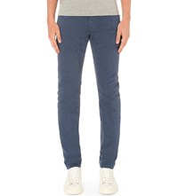 Ag Jeans Stockton Slim Fit Skinny Stretch Cotton Chinos Blue