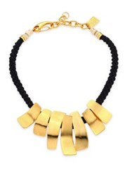 Lizzie Fortunato The Composition Rope Necklace Gold Black