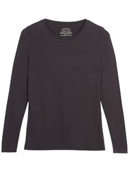Fat Face Hollie Long Sleeve T Shirt Slate Grey
