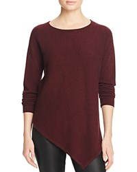 Bloomingdale's C By Asymmetric Cashmere Sweater Marled Cabernet