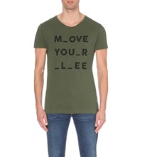 Lee Move Your Stretch Cotton T Shirt Hillside Green